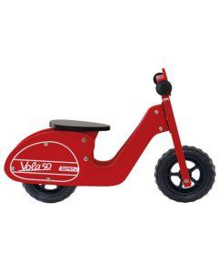 BRN VOLA 50 WOODEN BALANCE BICYCLE - Red, BI37R