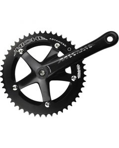 Miche Advanced track crankset - black