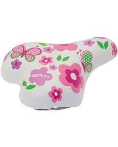 BRN White Flower Child's Saddle SE220B