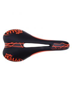 SLR Flow Team Edition Saddle Black Orange Manganese Rail